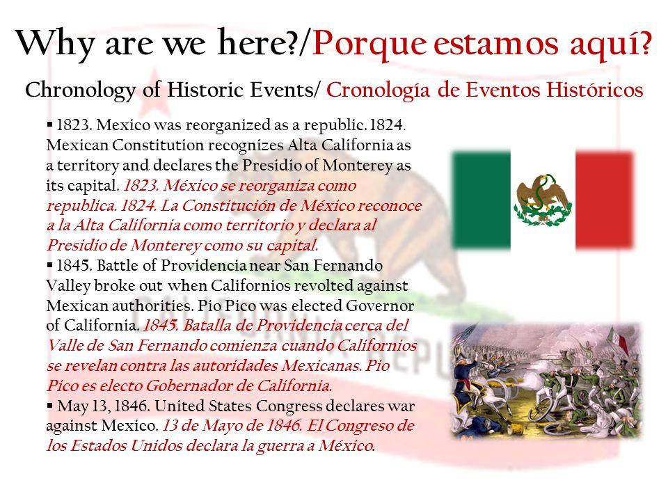 Why are we here /Porque estamos aquí.