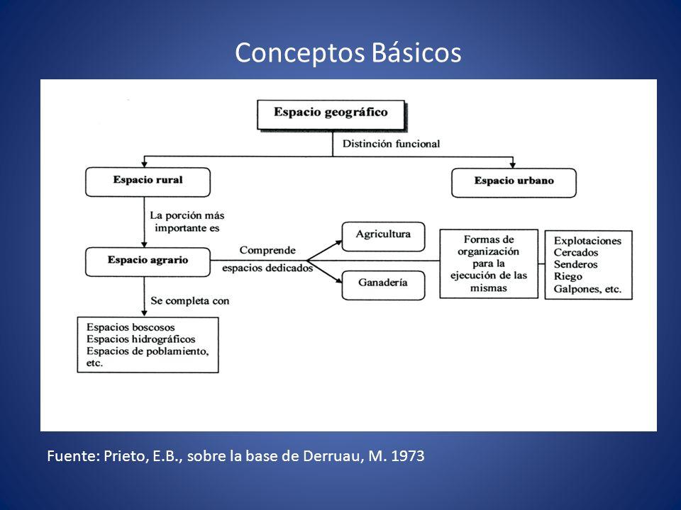 Conceptos Básicos Fuente: Prieto, E.B., sobre la base de Derruau, M. 1973