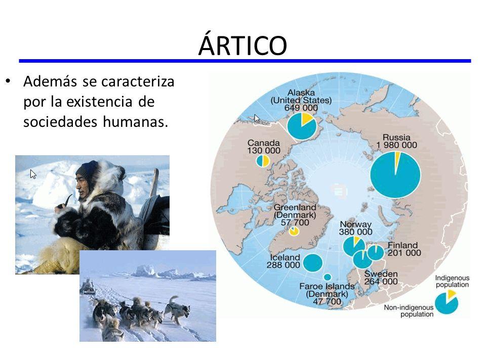 ÁRTICO Además se caracteriza por la existencia de sociedades humanas.