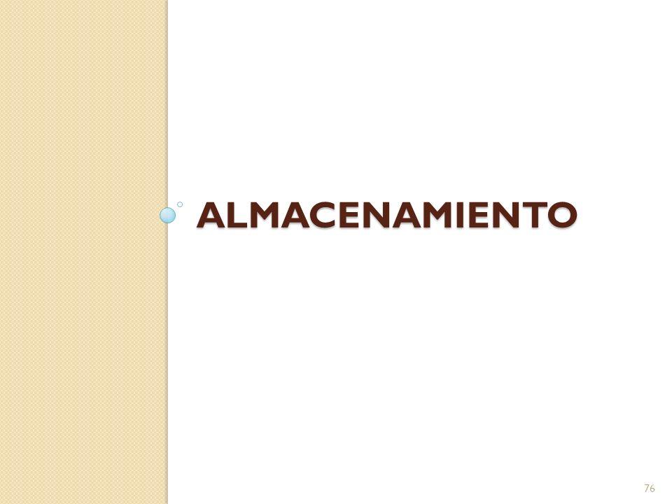 ALMACENAMIENTO 76