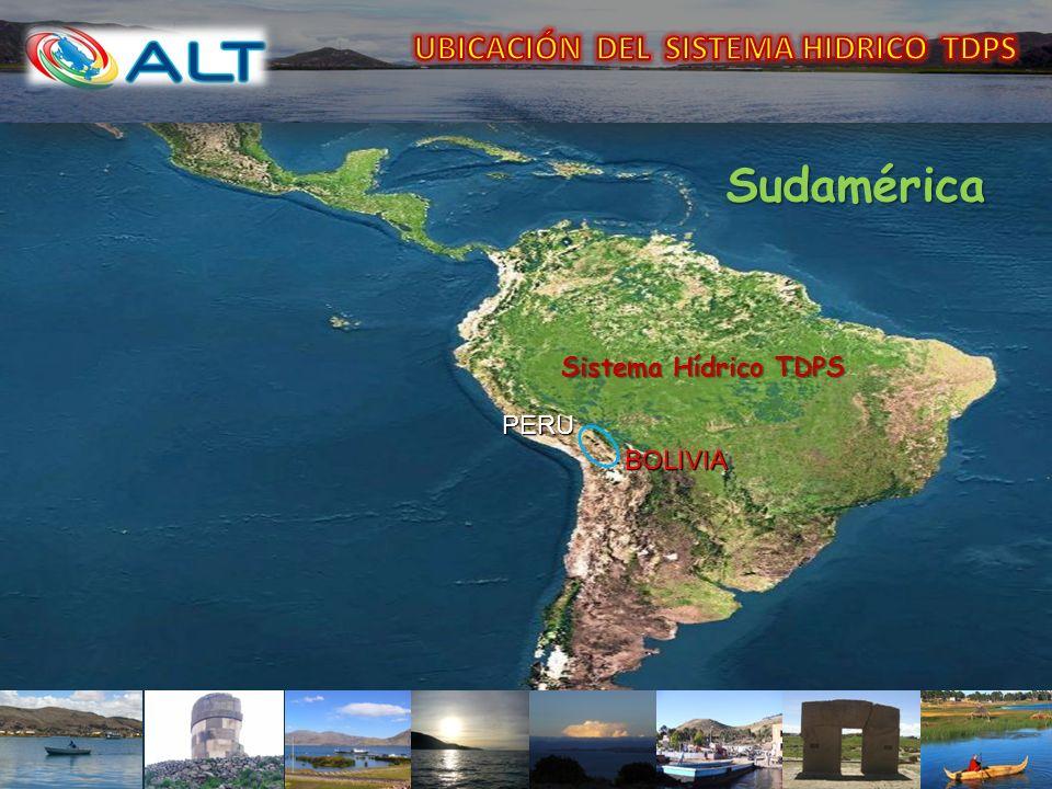 CUENCAKm2 COTA MEDIA msnm VOLUMEN MEDIO Km3 Sistema TDPS 143.900 Lago Titicaca56.2708.4003.810930 Rio Desaguadero 29.843 (398 Km 0.45 % Lago Poopó24.829 3.1913.686 130 km 0.20% ) Salar de Coipasa 32.9582.2253.657 PUNO LA PAZ TITICACA DESAGUADERO POOPO SALAR DE COIPASA