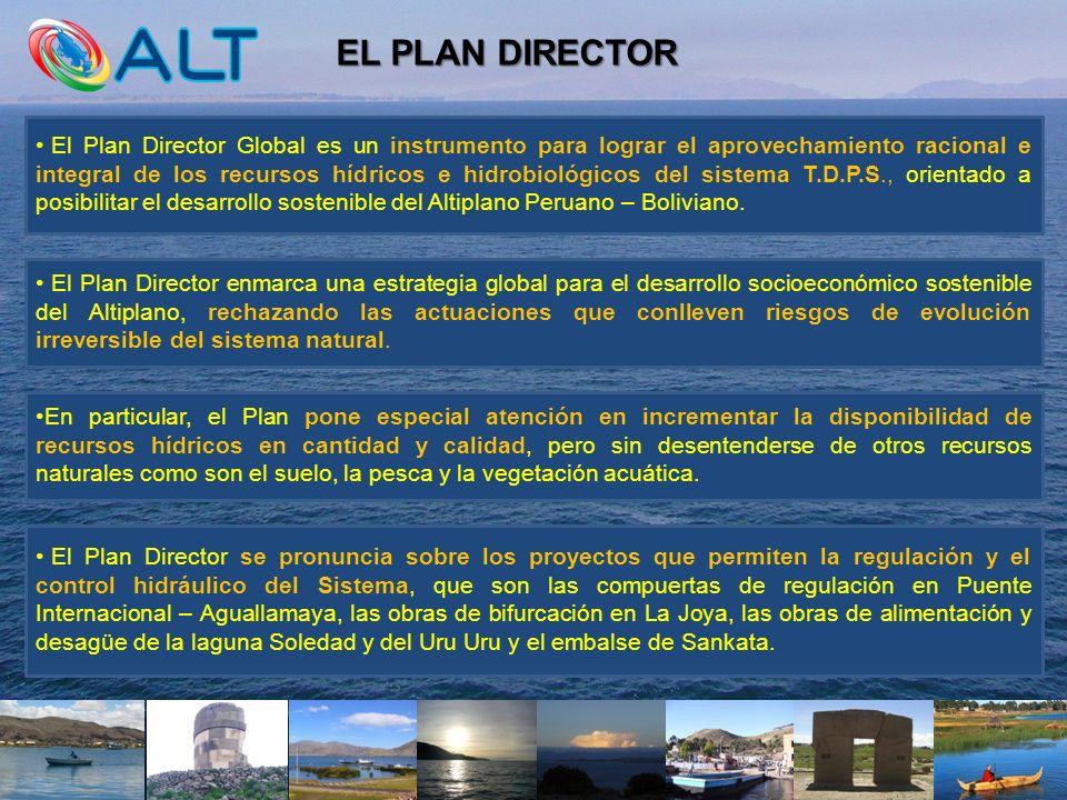 EL PLAN DIRECTOR El Plan Director Global es un instrumento para lograr el aprovechamiento racional e integral de los recursos hídricos e hidrobiológic