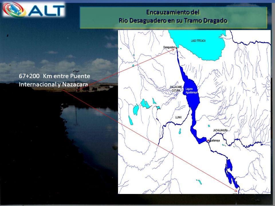 Encauzamiento del Rio Desaguadero en su Tramo Dragado Encauzamiento del Rio Desaguadero en su Tramo Dragado 67+200 Km entre Puente Internacional y Naz