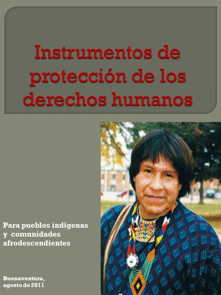 e 2011 Para pueblos indígenas y comunidades afrodescendientes Buenaventura, agosto de 2011