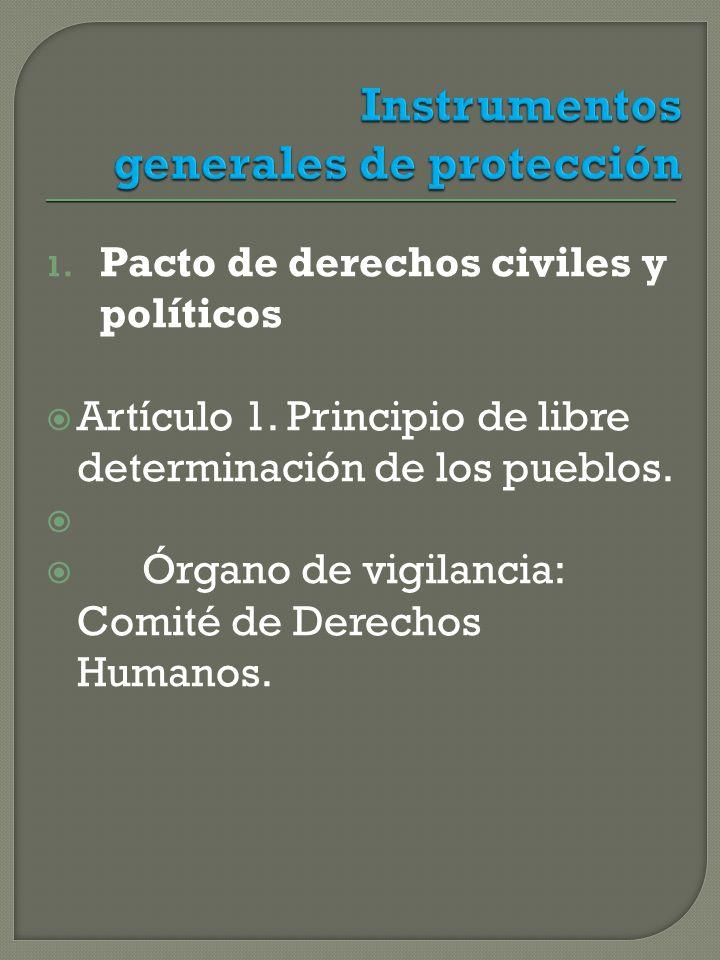 1.Pacto de derechos civiles y políticos Artículo 1.