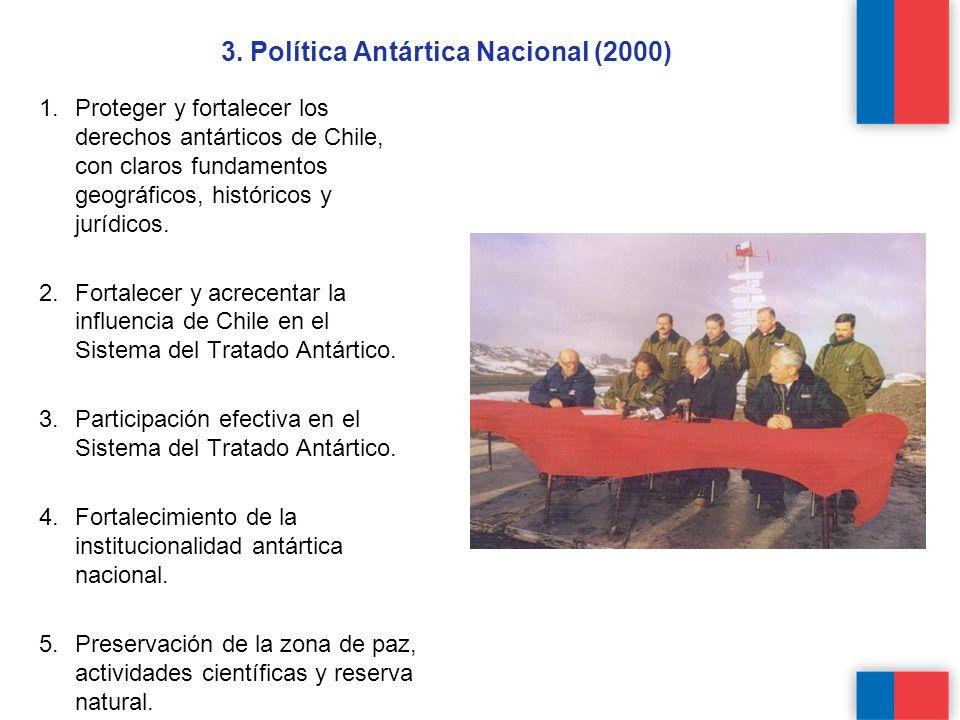 1.Proteger y fortalecer los derechos antárticos de Chile, con claros fundamentos geográficos, históricos y jurídicos.