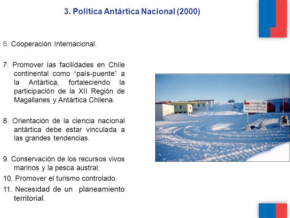 6.Cooperación Internacional. 7.