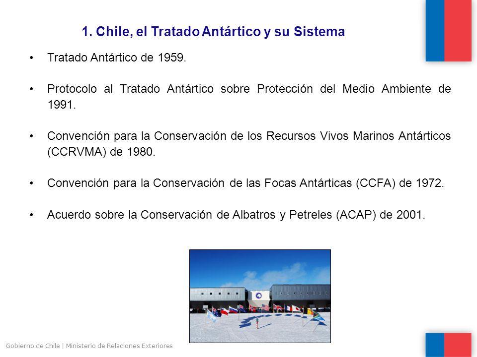 1. Chile, el Tratado Antártico y su Sistema Gobierno de Chile | Ministerio de Relaciones Exteriores Tratado Antártico de 1959. Protocolo al Tratado An