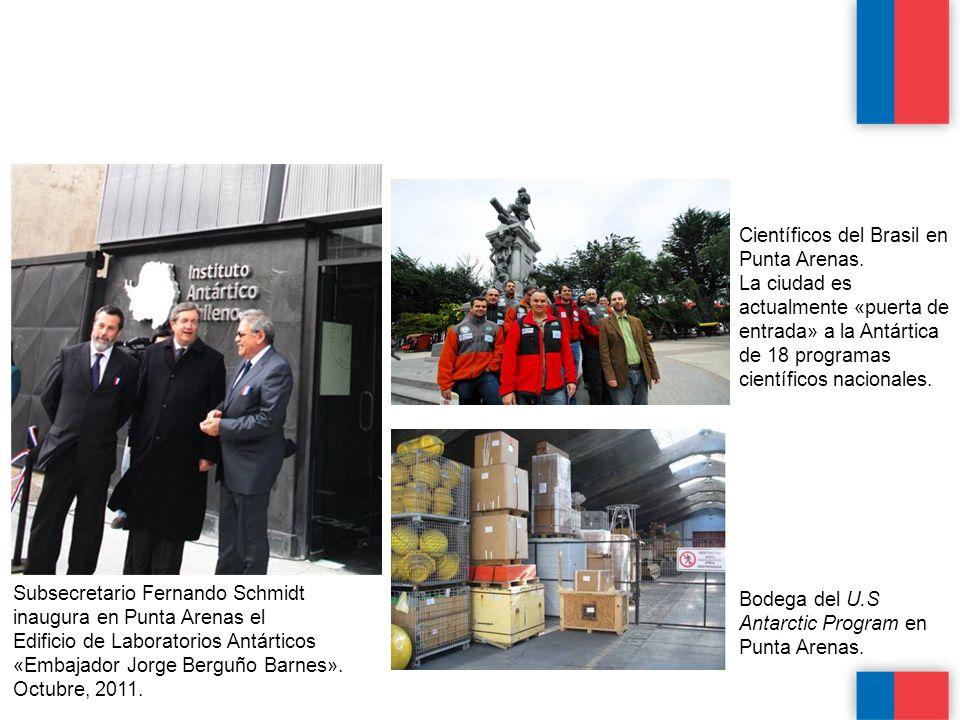Científicos del Brasil en Punta Arenas.