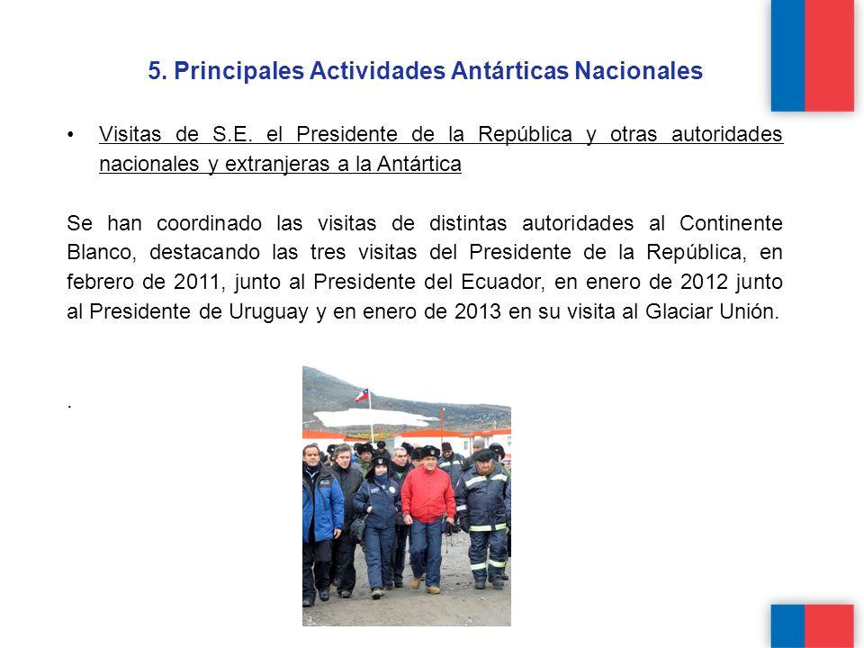 5.Principales Actividades Antárticas Nacionales Visitas de S.E.