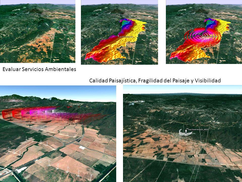 Evaluar Servicios Ambientales Calidad Paisajística, Fragilidad del Paisaje y Visibilidad JL Álvarez