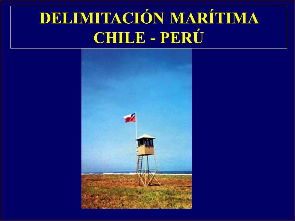 1 2 3 4 CHILE PERU P CH FARO CONCORDIA FARO LIMAR DELIMITACIÓN MARÍTIMA OCÉANO PACÍFICO CHILE HITO PERÚ ACTA DE COMISIÓN CHILENO- PERUANA ENCARGADA DE VERIFICAR LA POSICIÓN DEL HITO N°1 Y SEÑALAR EL LÍMITE MARÍTIMO.