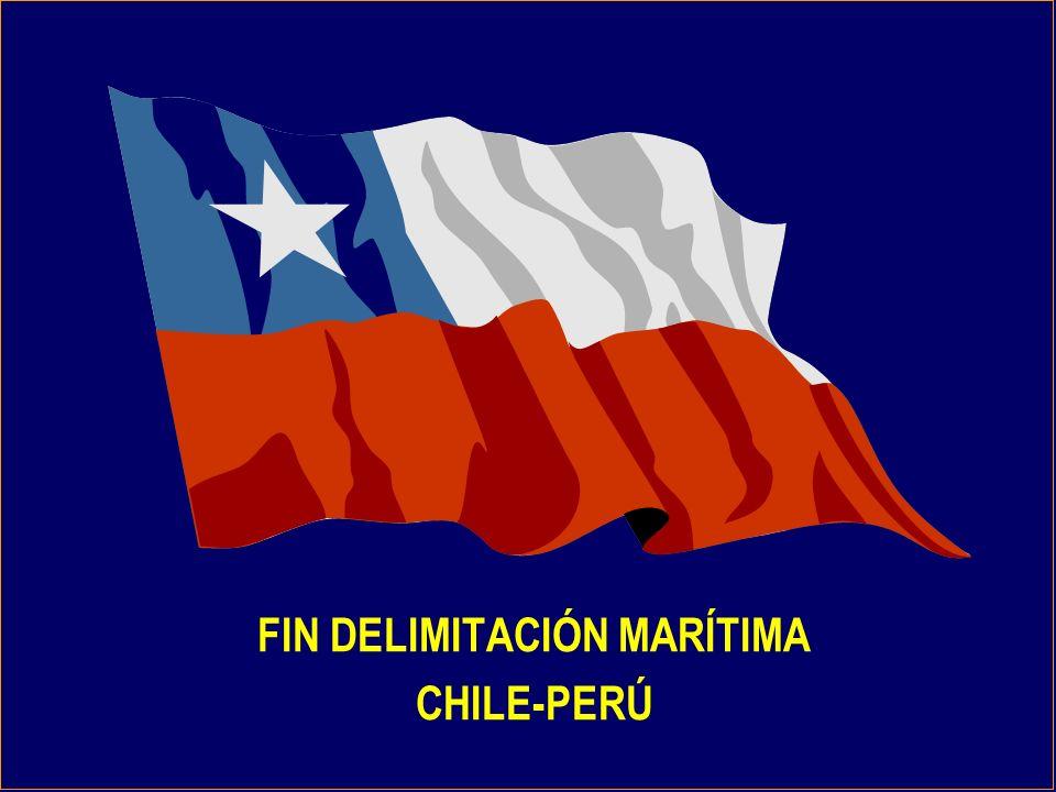 FIN DELIMITACIÓN MARÍTIMA CHILE-PERÚ