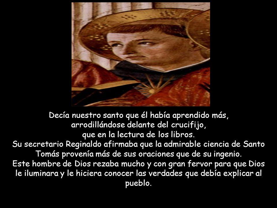 Santo Tomás logró que la filosofía de Aristóteles llegara a ser parte de las enseñanzas de los católicos. Este santo ha sido el más famoso profesor de