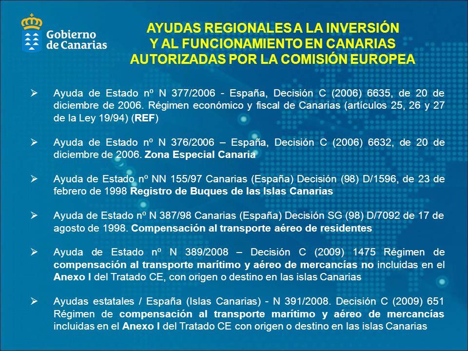 Ayuda de Estado nº N 377/2006 - España, Decisión C (2006) 6635, de 20 de diciembre de 2006.