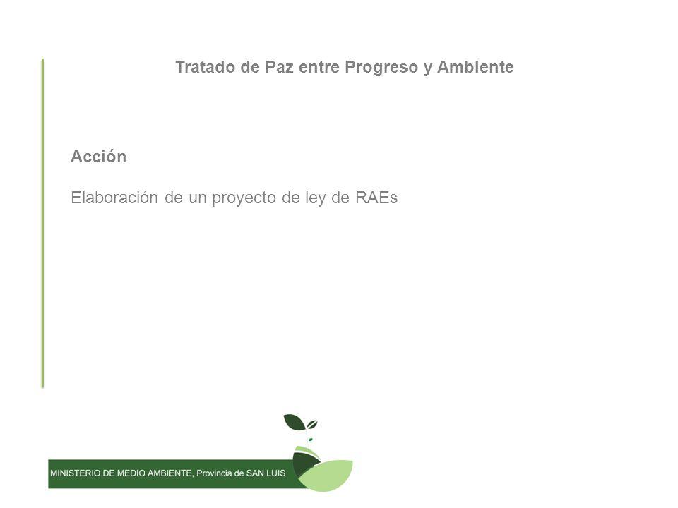 Tratado de Paz entre Progreso y Ambiente Acción Elaboración de un proyecto de ley de RAEs