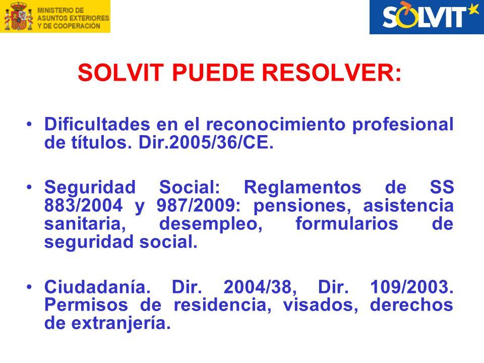 SOLVIT PUEDE RESOLVER: Dificultades en el reconocimiento profesional de títulos.