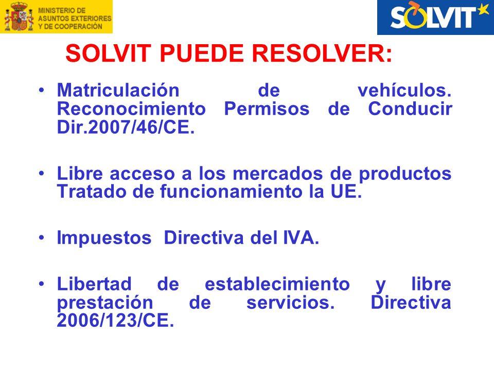 Matriculación de vehículos. Reconocimiento Permisos de Conducir Dir.2007/46/CE.
