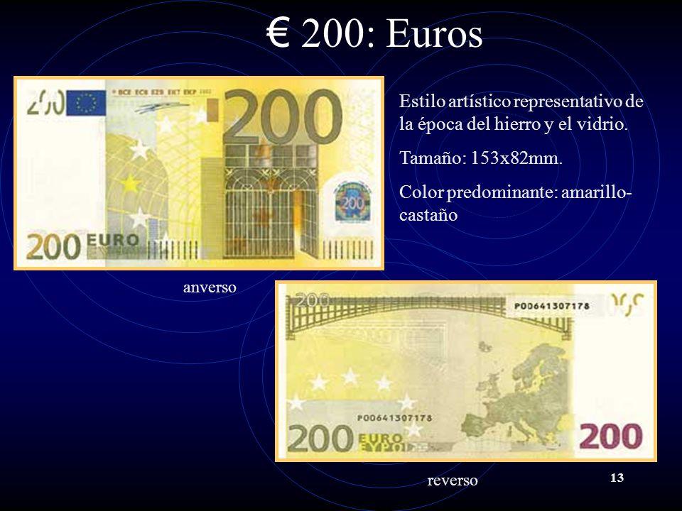 13 200: Euros Estilo artístico representativo de la época del hierro y el vidrio.