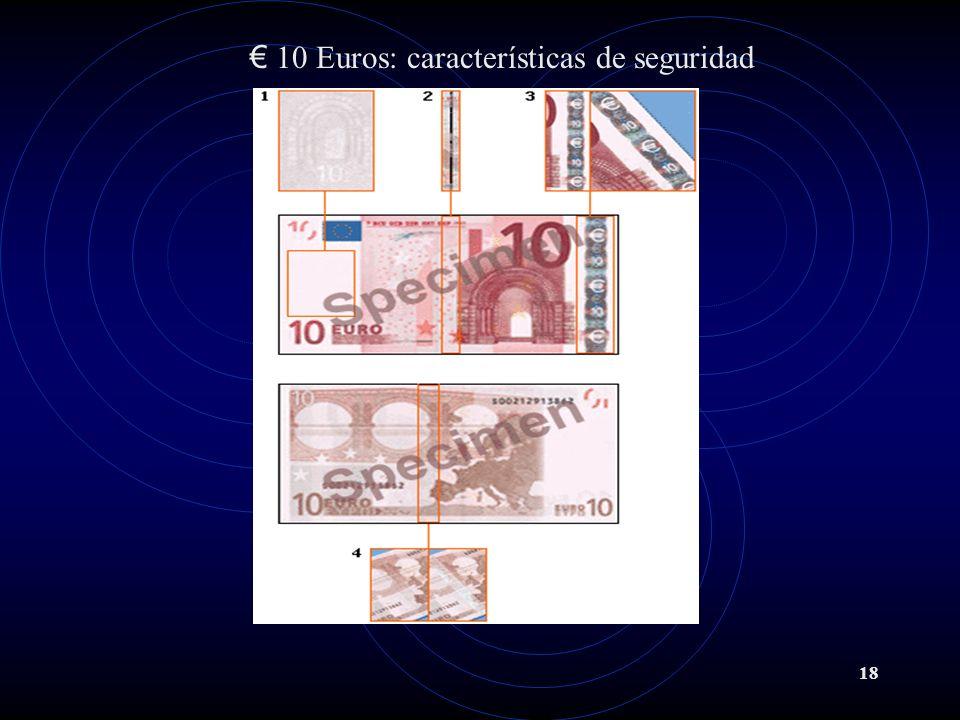 18 10 Euros: características de seguridad