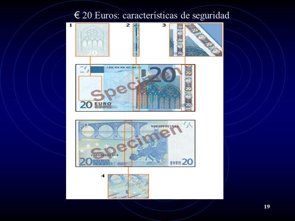 19 20 Euros: características de seguridad