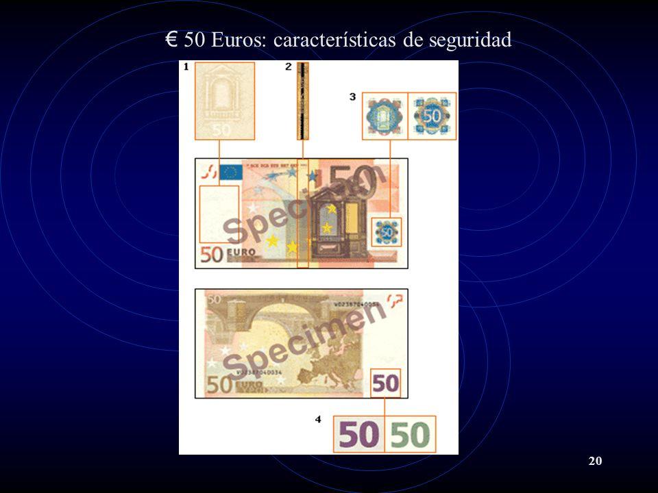 20 50 Euros: características de seguridad