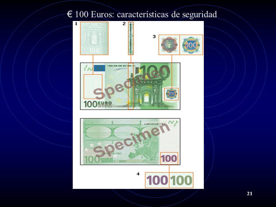 21 100 Euros: características de seguridad