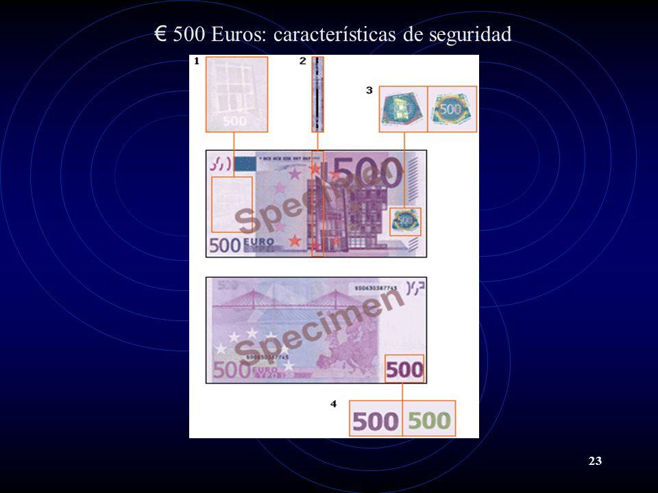 23 500 Euros: características de seguridad