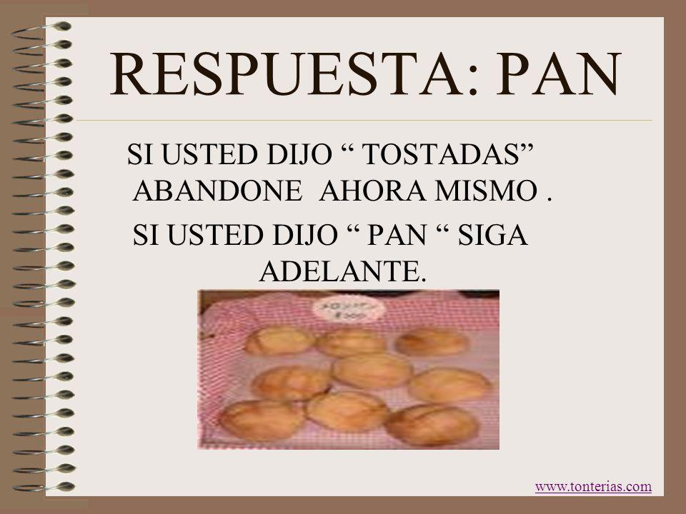 PRIMERA ¿ QUE PONE USTED EN UN TOSTADOR ? www.tonterias.com