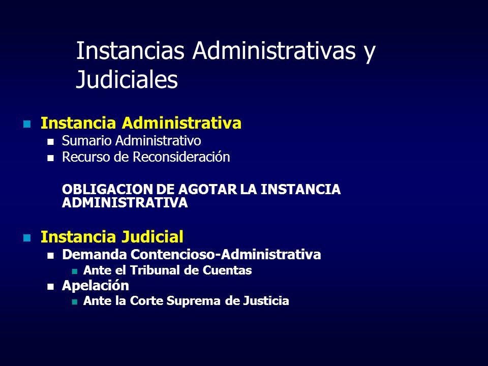 Instancias Administrativas y Judiciales Instancia Administrativa Sumario Administrativo Recurso de Reconsideración OBLIGACION DE AGOTAR LA INSTANCIA A