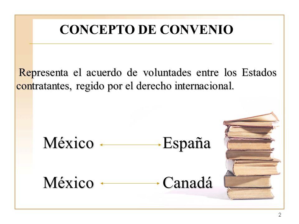 2 CONCEPTO DE CONVENIO Representa el acuerdo de voluntades entre los Estados contratantes, regido por el derecho internacional. Representa el acuerdo
