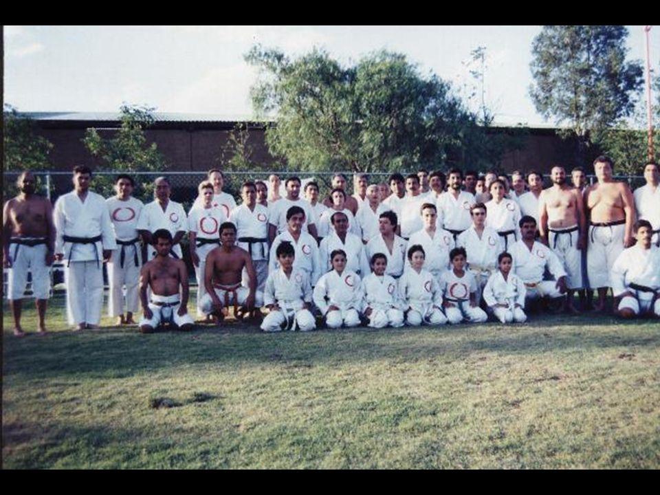 1995, julio 2 San Luis Potosí, SLP México Lomas Racquet Club Entrenamiento especial Último entrenamiento con Hanshi Isao Ichikawa en México