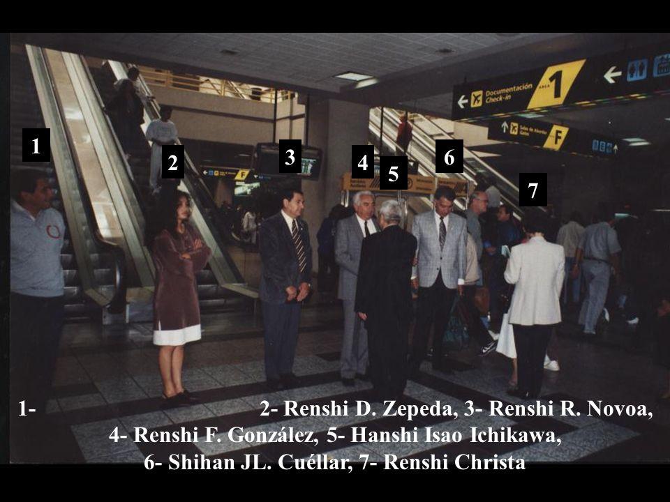 1995, julio 8 Despedida en el Aeropuerto de la Cd de México última visita de Hanshi Isao Ichikawa a México Murió en Viena, Austria el 1 de febrero de