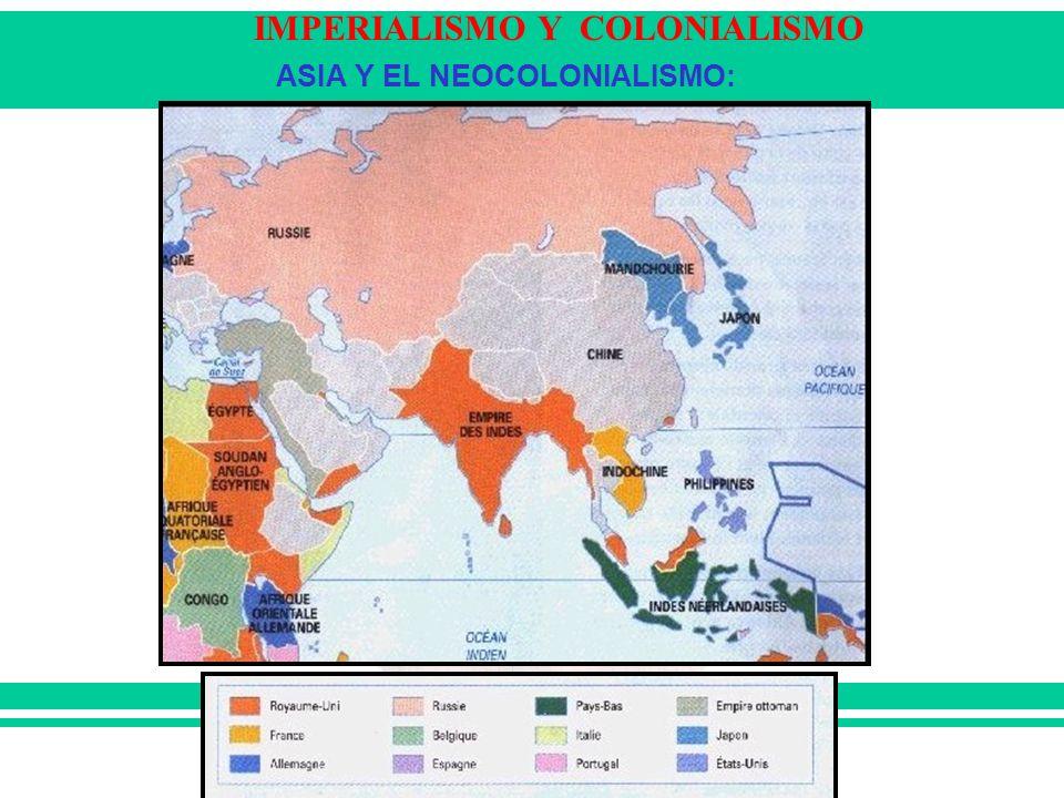 IMPERIALISMO Y COLONIALISMO ASIA Y EL NEOCOLONIALISMO: