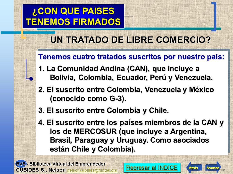 81 Es un acuerdo mediante el cual dos o más países reglamentan sus relaciones comerciales, con el fin de incrementar los flujos de comercio e inversió