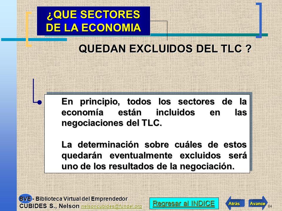 83 La diferencia está en el número de países que intervienen, mientras que en el ALCA son 34 países, en el TLC sólo intervienen 4 países (Colombia, EE