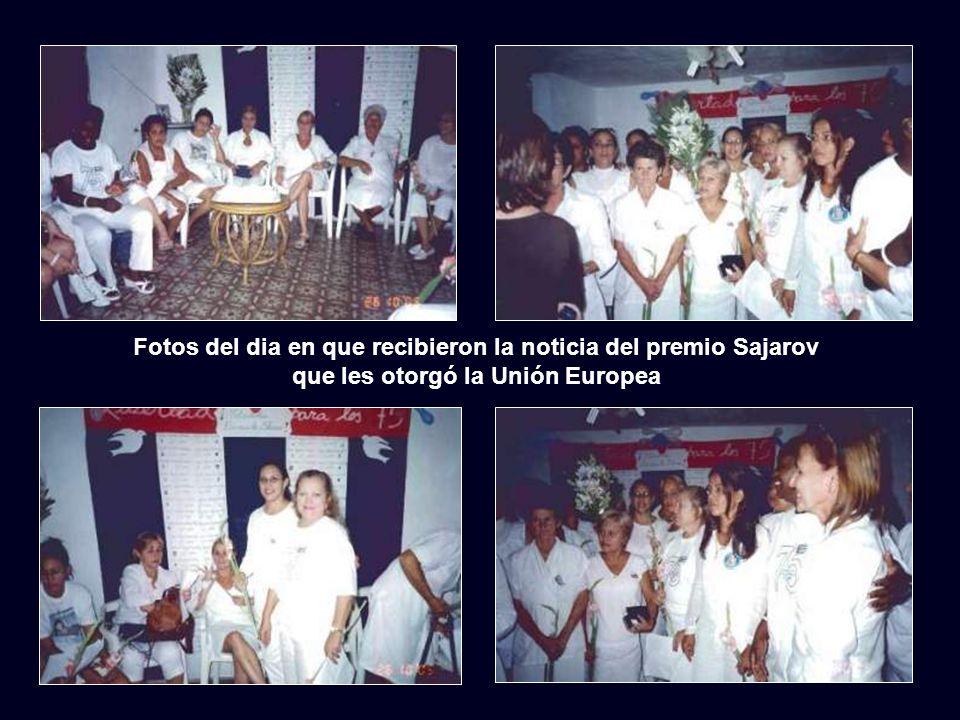Cuba y el mundo reconocen hoy, de forma merecida y creciente, a las Damas de Blanco. El Parlamento Europeo las ha premiado con el Premio Sajarov a los