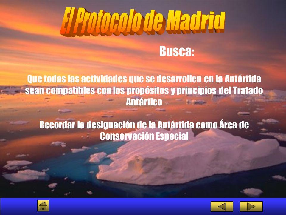 Que todas las actividades que se desarrollen en la Antártida sean compatibles con los propósitos y principios del Tratado Antártico Recordar la design