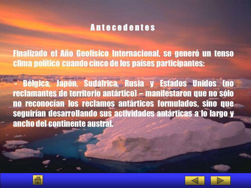 SCIENTIFIC COMMITTEE ON ANTARCTIC RESEARCH COMITÉ CIENTÍFICO EN INVESTIGACIÓN ANTÁRTICA Es el comité encargado de la iniciación, promoción y coordinación de la actividad científica en la Antártida con miras a estructurar y revisar los programas científicos de alcance y significado circumpolar.