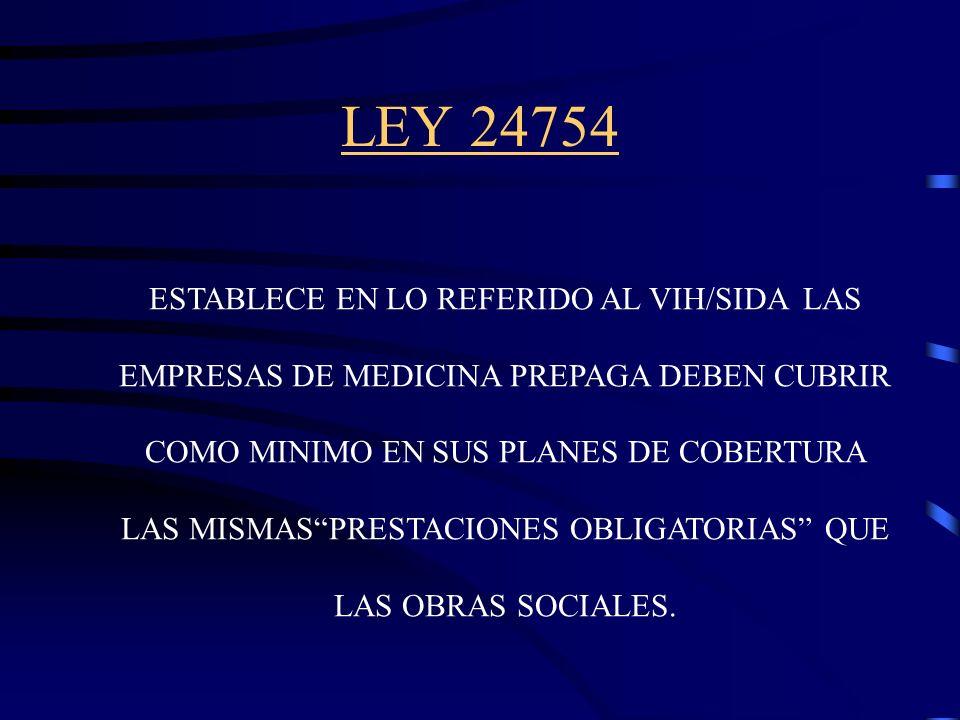 LEY 24455 ART. 1..TODAS LA OBRAS SOCIALES...DEBERAN INCORPORAR COMO PRESTACIONES OBLIGATORIAS: 1) LA COBERTURA PARA LOS TRATAMIENTOS MEDICOS, PSICOLOG