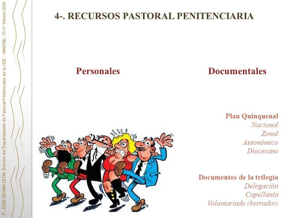 Documentales Plan Quinquenal Nacional Zonal Autonómico Diocesano Documentos de la trilogía Delegación Capellanía Voluntariado (borrador) P. JOSÉ SESMA