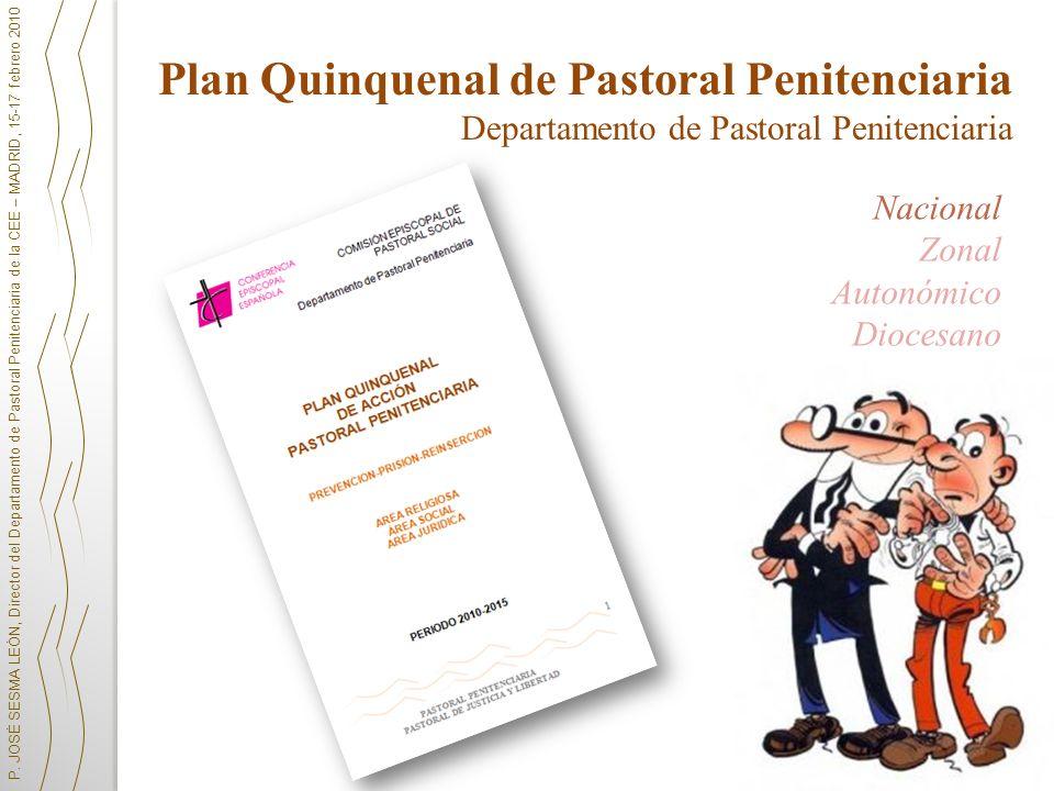 P. JOSÉ SESMA LEÓN, Director del Departamento de Pastoral Penitenciaria de la CEE – MADRID, 15-17 febrero 2010 Plan Quinquenal de Pastoral Penitenciar