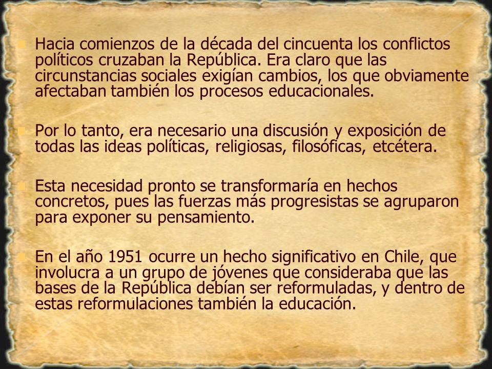 A instancia del pensador chileno Francisco Bilbao, secundado por Santiago Arcos, tiene lugar el día 14 de abril de 1850 la fundación de la Sociedad de la Igualdad, organización que planteaba propuestas sumamente progresistas y con un claro sentido de clase.