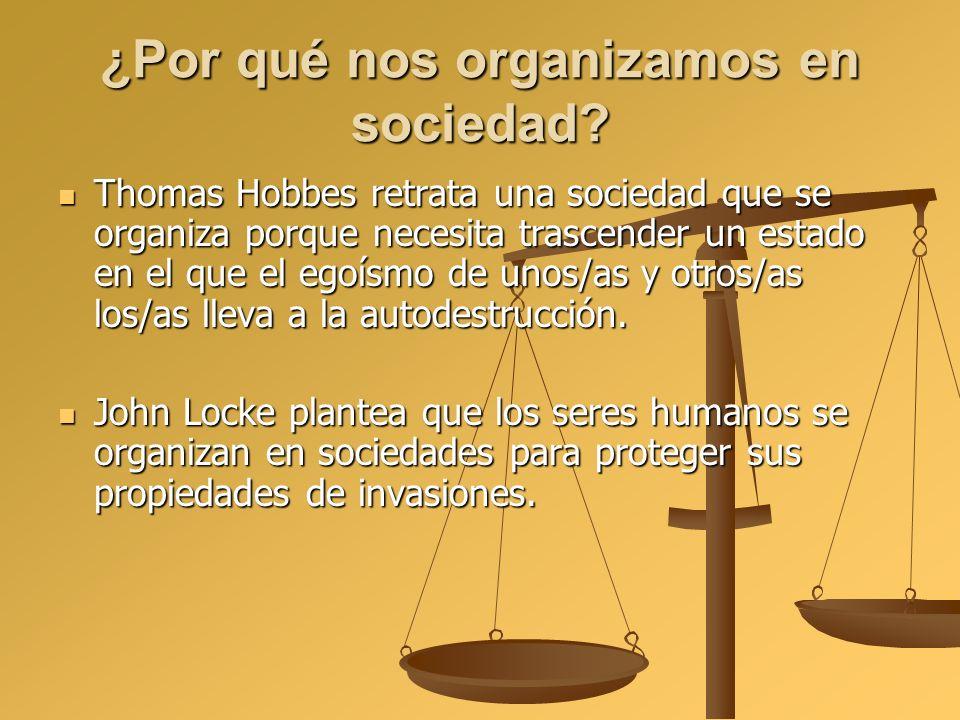 ¿Por qué nos organizamos en sociedad? Thomas Hobbes retrata una sociedad que se organiza porque necesita trascender un estado en el que el egoísmo de