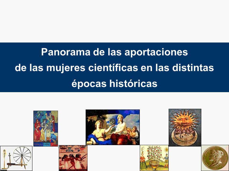 Panorama de las aportaciones de las mujeres científicas en las distintas épocas históricas