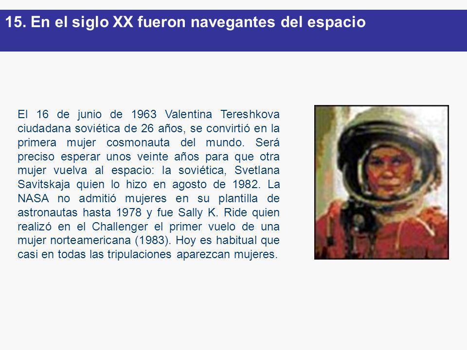 El 16 de junio de 1963 Valentina Tereshkova ciudadana soviética de 26 años, se convirtió en la primera mujer cosmonauta del mundo. Será preciso espera