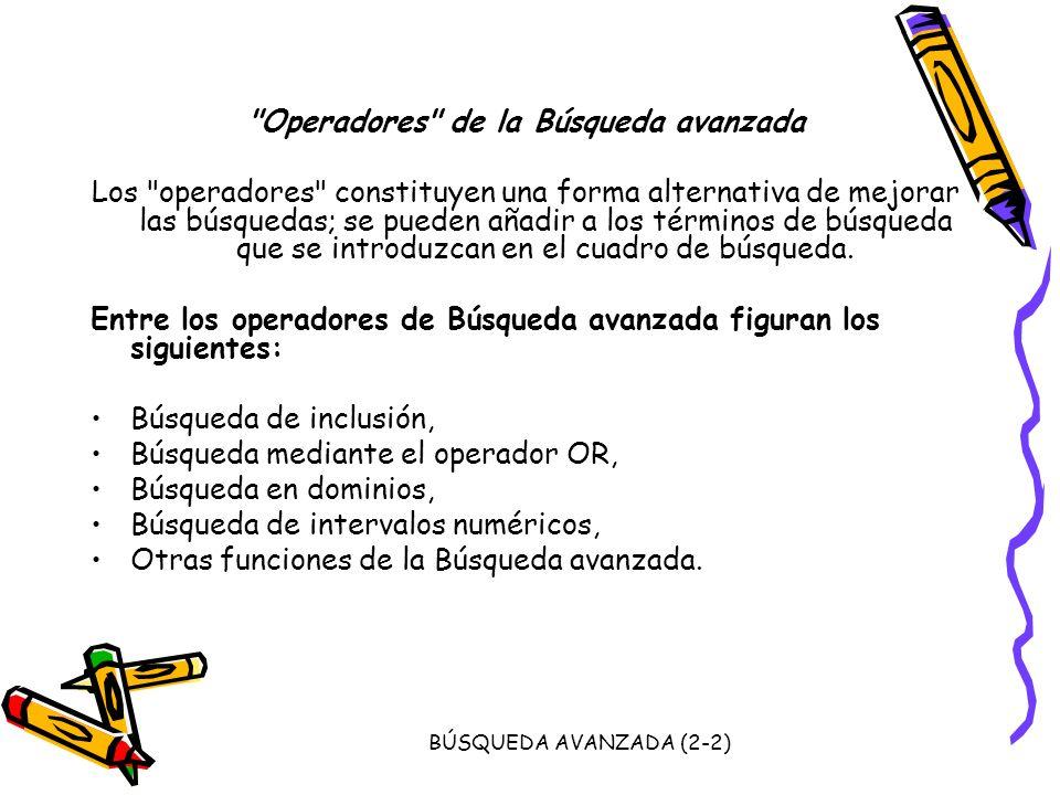 BÚSQUEDA AVANZADA (2-2)