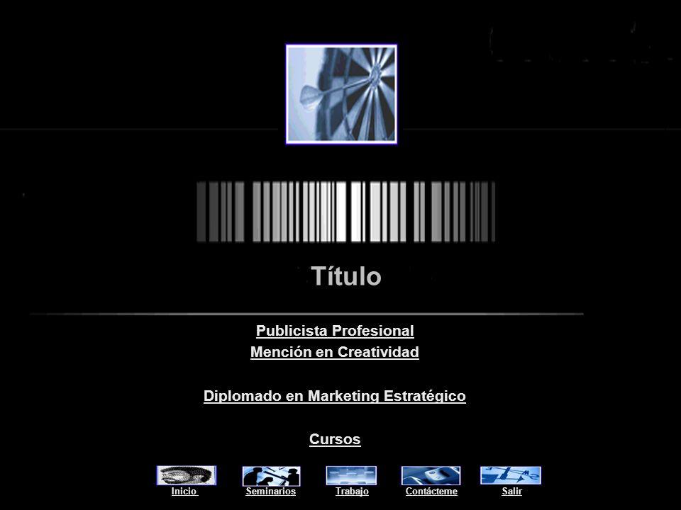 Marcelo Severin Título Seminarios Trabajo Contácteme Salir TítuloSeminarios TrabajoContáctemeSalir http://marceloseverin.tripod.com
