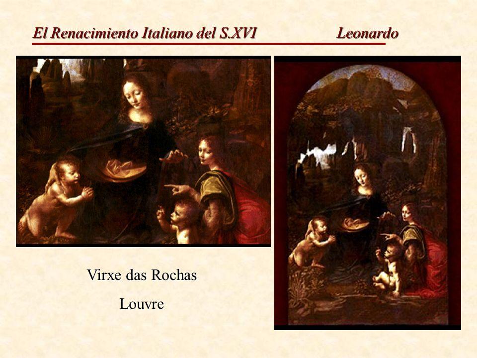 El Renacimiento Italiano del S.XVI Leonardo Virxe das Rochas Louvre