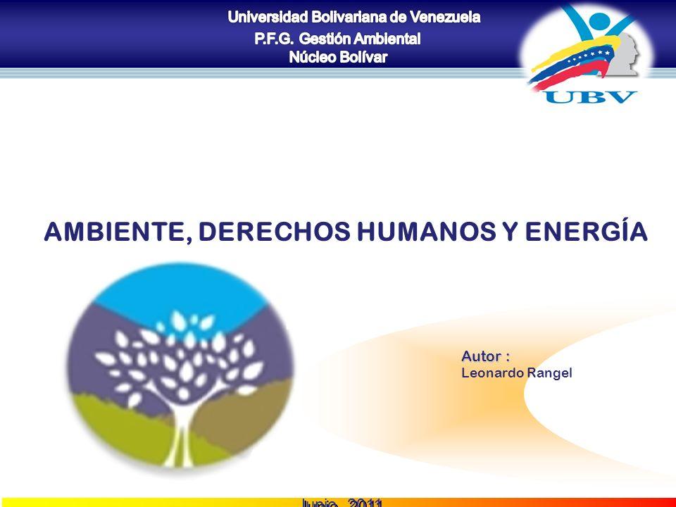 COZUCUID - LUZ AMBIENTE, DERECHOS HUMANOS Y ENERGÍA Autor : Leonardo Rangel Junio, 2011